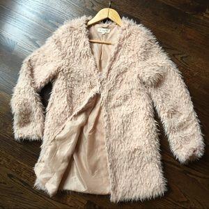 The Vintage Shop Shaggy Faux Fur Jacket Blush